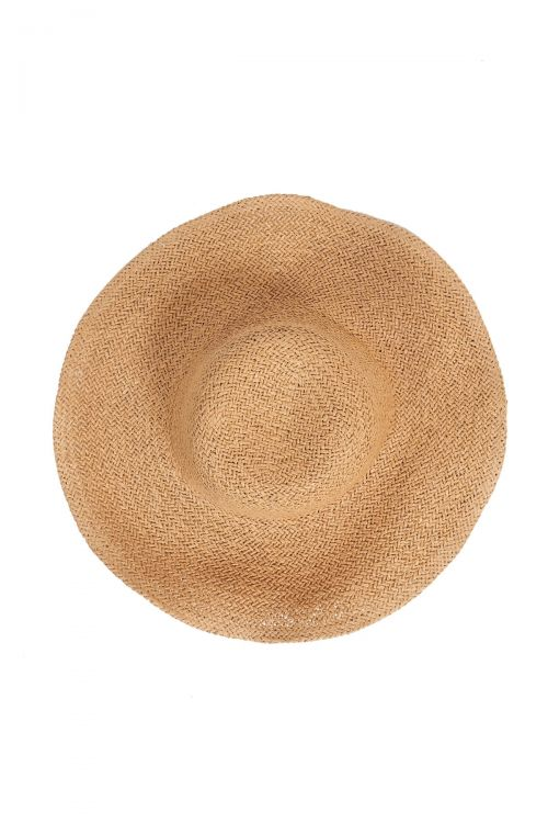 Ψάθινο καπέλο με μεγάλο γείσο - Μπεζ
