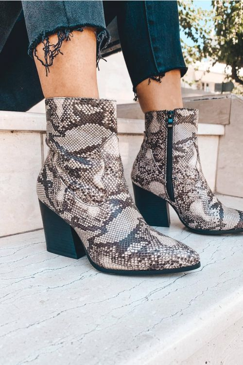 WILD AND HIGH ANKLE BOOTS - Snake