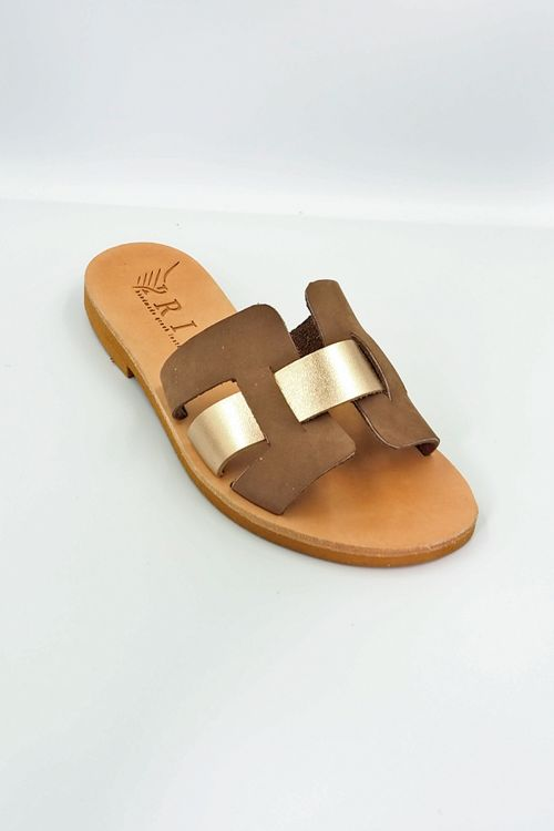 Leather Sandals Eriphili - Rose Gold