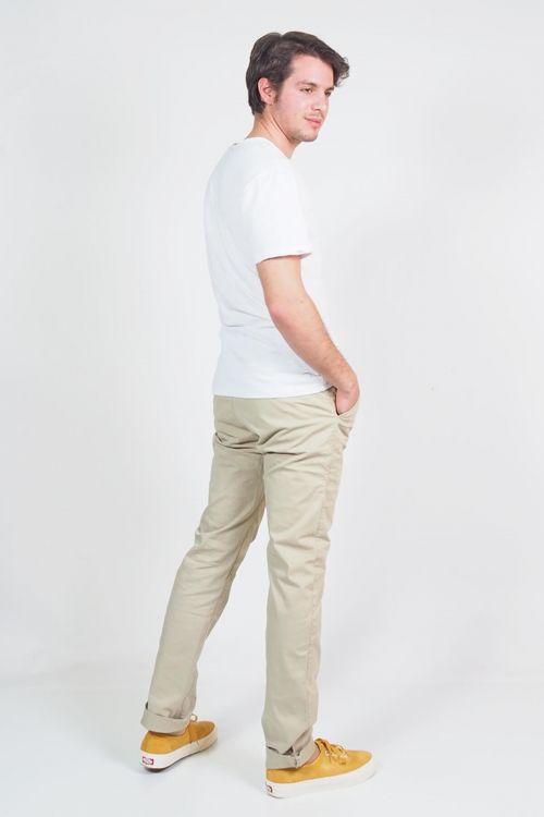 Ανδρικό t-shirt με κουμπάκια Denver - Λευκό