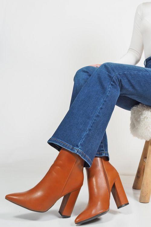 Μποτάκια ankle Skylar - Camel