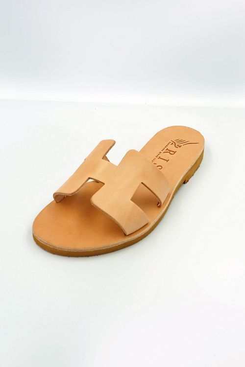 Leather Sandals Helios - Μπεζ