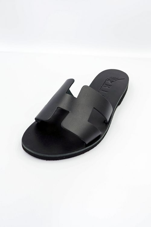Leather Sandals Helios - Μαύρο