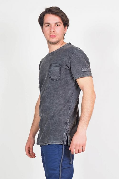 Ανδρικό t-shirt Rope Stone washed - Graphite