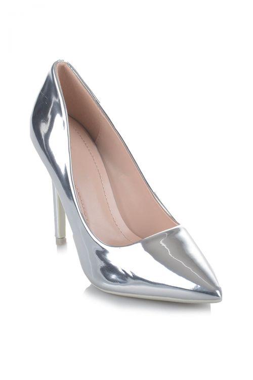 Γόβες shining diamond - Silver