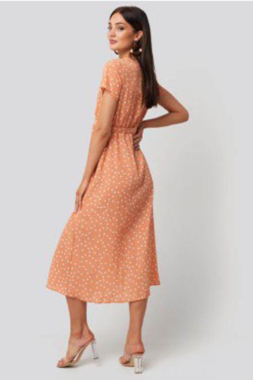 Ida wrap dress - Πορτοκαλί