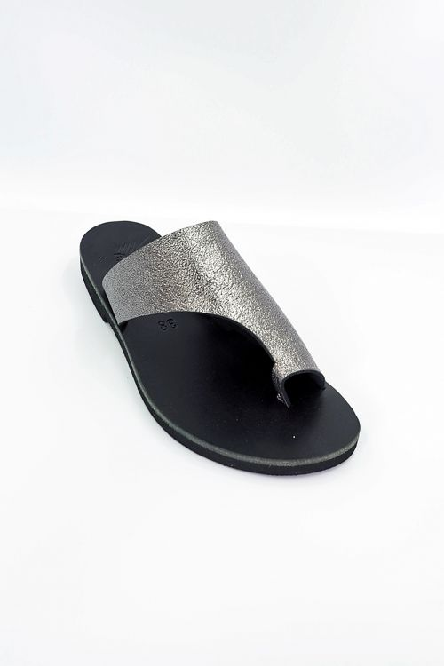 Leather Sandals Ilektra - Black/Copper