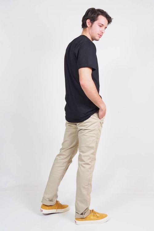 Ανδρικό t-shirt Base round neck - Μαύρο