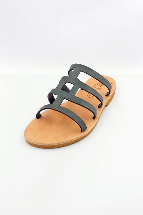 Leather Sandals Dedalos - Γκρι